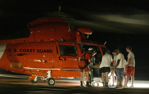 taff members prepare the last patient to be evacuated from Memorial Medical Center in New Orleans on Sept. 1, 2005. (Brad Loper/Dallas Morning News/Corbis)