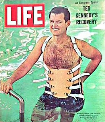 In 1964, while recovering from extensive back injuries after a near-fatal plane crash