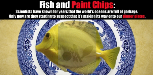 fish and paint chips
