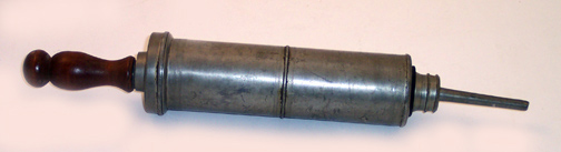 pewter syringe ancient med