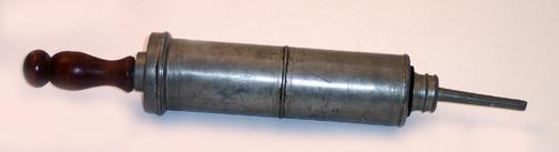 pewter syringe ancient med
