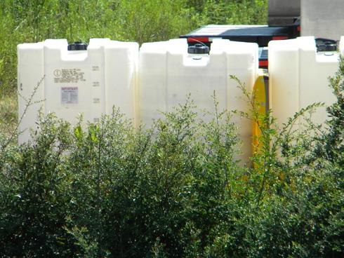 Corexit tanks, September 1, 2010. (Photo: Shirley Tillman)